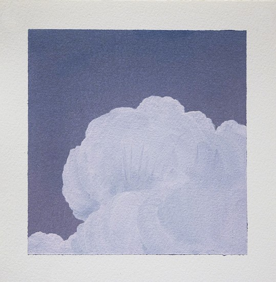 IAN FISHER, CLOUD STUDY 19 oil on paper