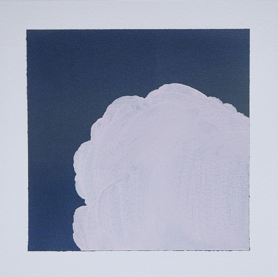 IAN FISHER, CLOUD STUDY 10 oil on paper