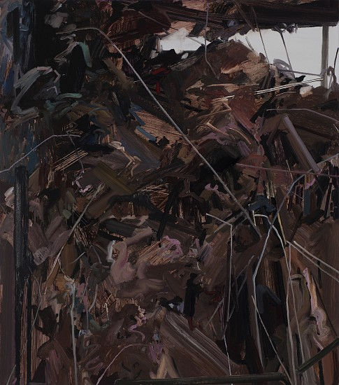 CLAIRE SHERMAN, DIRT AND TWIGS oil on canvas