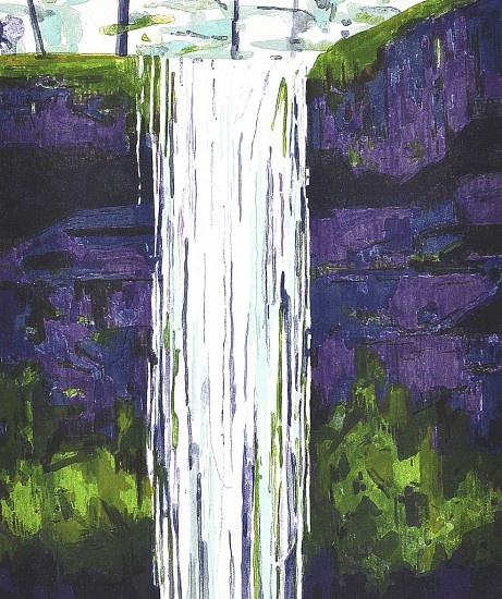 CLAIRE SHERMAN, WATERFALL 11/30 color lithograph